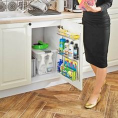 Small House Interior Design, House Design, Smart Furniture, Storage Hacks, Kitchen Organization, Home Goods, Kitchen Design, Household, New Homes