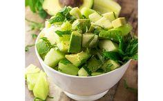 Salat mit Gurken, Melonen und Avocados (Paleo & Vegan) - Recipes to Cook Avocado Recipes, Healthy Salad Recipes, Paleo Recipes, Healthy Snacks, Healthy Eating, Cooking Recipes, Easy Recipes, Salad Recipes Video, Rabbit Food