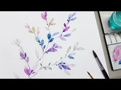 LVL2] Painting Easy Simple Flowers Watercolor painting for