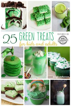 25 Green Food Ideas: Treats for Kids and Adults for St. Holiday Treats, Holiday Fun, Holiday Recipes, My Favorite Food, Favorite Recipes, Irish Festival, St Patrick Day Treats, St Patricks Day Food, St Paddys Day