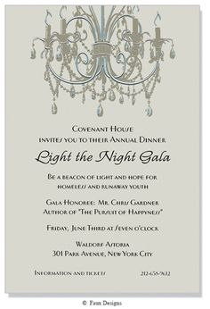 Events - Chandelier Invitation