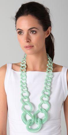 Adia Kibur Resin Chain Link Necklace