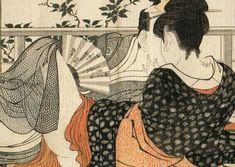 Kitagawa Utamaro, Lovers in the upstairs room of a tea house