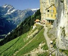 I want to visit the Berggasthaus Aescher in the Swiss Alps.