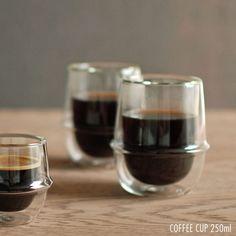 耐熱ガラス カップ コップ マグ かわいい おしゃれ コーヒー カップ 二重構造 キントー KINTO [CR]。耐熱ガラス カップ コップ /  キントー クロノス ダブルウォール コーヒーカップ 250ml  KINTO KRONOS Double wall coffee cup 23107 【P10】/10P03Dec16