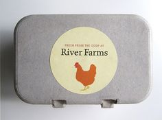 Egg Carton Labels Custom Packaging Food by GalleryintheGarden