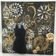 Whimsytouches: Little Black Dress Canvas