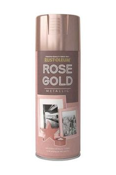 A premium quality, scratch resistant finish that allows you to create an attractive Rose Gold metallic finish on a wide range of substrates. Add a shiny metallic look to picture frames, candle holders, hobby and craft items and more. Spray Rose Gold, Metallic Spray Paint, Copper Spray Paint, Rose Gold Room Decor, Rose Gold Rooms, Rose Gold Bed, Gold Bedroom Decor, Rose Gold Painting, Deco Champetre