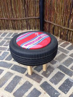 Upcycled tyre seating;)