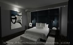 Downtown Orlando Penthouse   Master Bedroom   3D Drawing