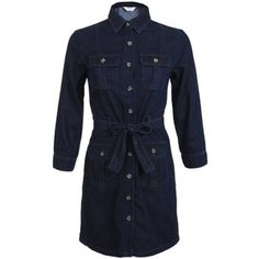 Miss Selfridge 4 Pocket Belted Denim Shirt Dress