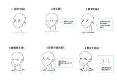 首 構造 コツ 描き方 イラスト  Drawing Neck Tips Illustration Tutorial