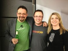 In good company: Phil Libin (CEO Evernote), Cristina Riesen (Evernote) & Xavier Bertschi (CEO Skeeble) Evernote, Startups, Innovation, People, T Shirt, Tops, Women, Fashion, Supreme T Shirt