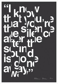 Hierarchy; strong visual appeal from afar due to witty use of graphic elements/typographic image treatment - Gorker Gallery Poster