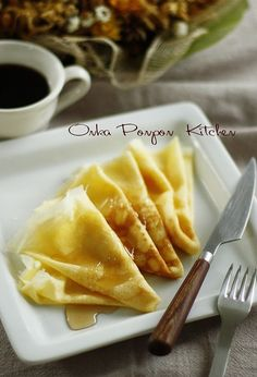 Crepe is so delicious, Soft and light. Everyone should try it - even if its just once. Fill it up with whatever you like- from sweet to just some veggies. incredibly delish!