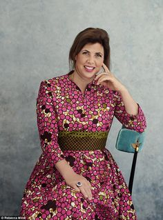 Kirstie Allsopp on her children's fussy eating African Fabric, African Prints, African Dresses For Women, Ankara Dress, Tv Presenters, Sexy Older Women, Ankara Styles, Traditional Dresses, Get Dressed