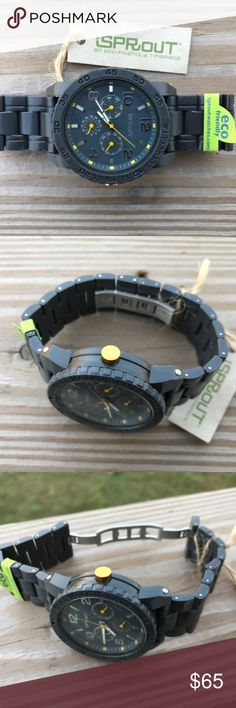 SPROUT Mens Watch Eco-friendly Biodegradable Corn SPROUT Mens Watch Eco-friendly Biodegradable Corn Resin Case Gray Analog Watch  Brand: Sprout  Color: Gray  Size: 7 ( Fit to 7 and 7.5 )  Eco-Friendly  An eco-friendly Timepiece  Corn Resin Case  Biodegradable  Japan Movement  New with tags. Sprout Accessories Watches