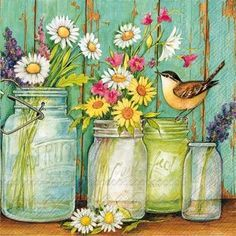 Welcome to the Diamond Paintings Store. Diamond Painting Kits, diamond art, diamond painting accessories and more. Flowers In Jars, Diy Flowers, Paper Flowers, Flower Jars, Flower Diy, Fabric Softener Sheets, Rhinestone Art, Cross Stitch Bird, Home Decor Pictures