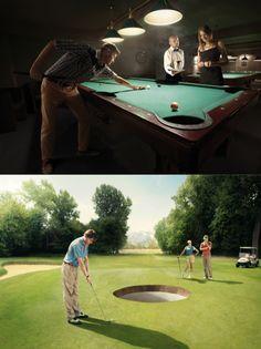 billard and golf made easier :) by Jan Kriwol (photos) | Le Club Ostecx Agency: Ostecx Creative.