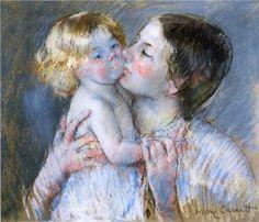 A Kiss for Baby Anne (no. 3) - Mary Cassatt, 1897