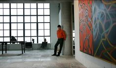 Brice Marden at his studio in Tivoli, N.Y.