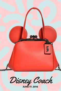 Disney x Coach Collection: coming to coach.com on June 17th. Fashion for the Mickey Mouse lovers! Perfect for a trip to Disney World or Disneyland. The ears are adorable and I'm loving the tshirt line as well. Fashion | Trends | Purses | Bags