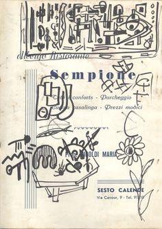 E. Besozzi pitt. s.d. (1957) Composizione pennarello su carta cm. 24,5x17,1