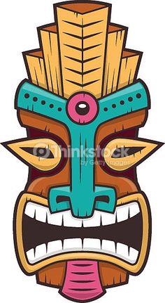 Hawaiian tiki god statue carved in Polynesian wood tikki ku lono . Hawaiian tiki go Tiki Faces, Dremel Carving, Tiki Totem, Tiki Mask, Hawaiian Tiki, Wood Burning Crafts, Madhubani Painting, Scroll Saw Patterns, Art Lessons Elementary