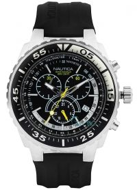 NAUTICA NST700 Black Rubber Chronograph A14675G - http://rologia.org/nautica-nst700-black-rubber-chronograph-a14675g/