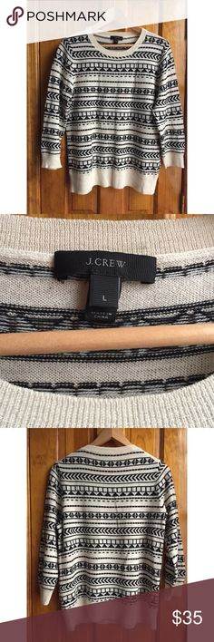 "J. Crew 💯 Merino Wool Sweater L GREAT Condition Bust(underarm to underarm when laid flat): 17"" Length:20"" // 💯Merino Wool (light kind, not bulky) // 15% off on bundles. I ship same-day from pet/smoke-free home. Buy with confidence. I am an expert top seller with over 400 5-star ratings and A LOT of love notes. Check them out. 😊😎 J. Crew Sweaters Crew & Scoop Necks"