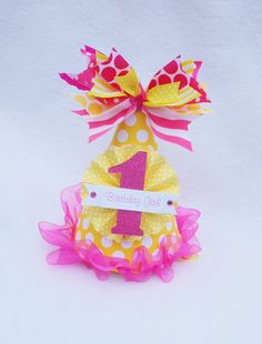 You Are My Sunshine Birthday Party Hat in by LittlePinkTractor, $15.50