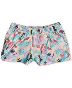 d98c30cb6e Roxy Tropical-Print Board Shorts, Little Girls & Reviews - Swimwear - Kids  - Macy's