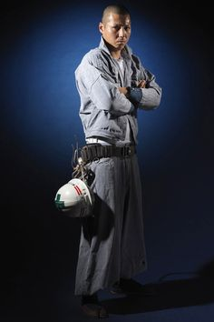 Japanese construction worker