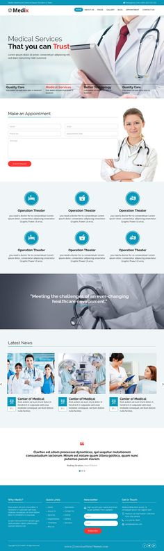 Medix is new Bootstrap HTML template for Health and #Medical organization #websites. Download Now!