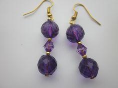 Earrings Totally Purple £2.50