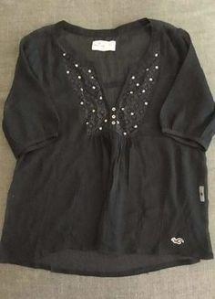 8429b89b993b9d Hollister Shirt transparent, dunkelblau, wie neu, Größe XS. Yve ·  Kleiderkreisel