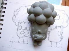 a general article about sculpting, molding, casting - not a tutorial: Designer Toys How are Designer Toys made? Vinyl Toys, Vinyl Art, Toy Art, Modelos 3d, Mascot Design, Cute Monsters, 3d Prints, Cute Toys, Designer Toys