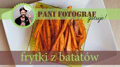 Frytki z batatów z piekarnika (frytki ze słodkich ziemniaków)