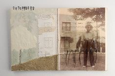 "Lisa KOKIN  ""Equal Rights""  Mixed media book collage, 10-1/2 x 16, 2006"