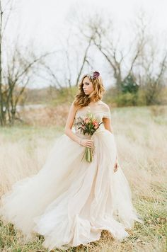The Marie  Dress  Whimsical Tulle Wedding by TheBridalTree on Etsy