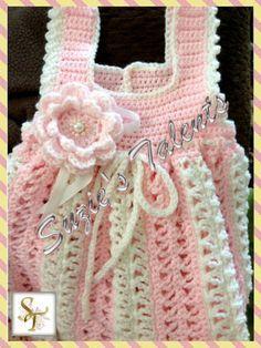 Baby Dress, Crochet Baby Dress, Handmade Baby Dress, Baby Flower Dress, Baby Crochet Dress