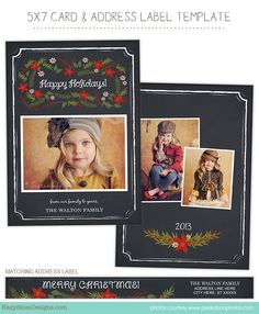 Christmas Holiday Card Templates for Photographers   #photographer #photography #christmas #card #templates #marketing #family photography #millers lab #miller's lab