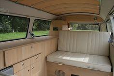 The Camper Shak – Hand Crafted VW Camper Interiors Volkswagen Bus Interior, Volkswagen Westfalia Campers, Kombi Camper, Campervan Bed, Kombi Home, Campervan Interior, Camper Van, Vw Bus, Dream Cars