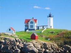 Nubble Lighthouse in York Beach, Maine USA
