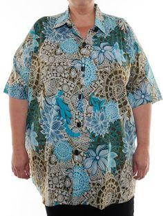 BOP Tops 100% Cotton Secret Garden Print Short Sleeve Tunic Top W/Shirring by WeBeBop (0X) Bop Tops by We Be Bop,http://www.amazon.com/dp/B00CBIHF0M/ref=cm_sw_r_pi_dp_TsxCrb62D36C4B84