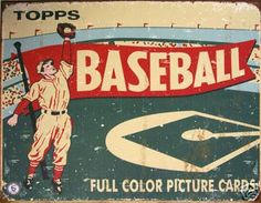Vintage look Topps baseball sign