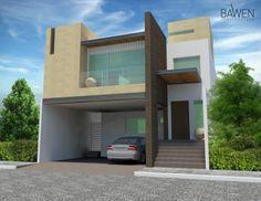 fachadas de casas modernas de dos pisos en mexico - Google Search