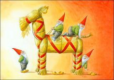 In old Norse tradition julebukk (yule goat) was orgininally the goat that was slaughtered for the Yule feast.