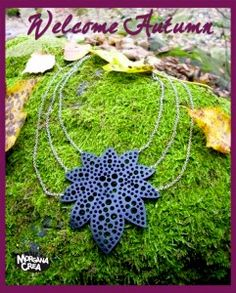 Recycled Inner Tube Necklace with chains. By Morgana Crea https://www.facebook.com/morgana.crea1