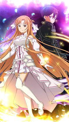 Online Anime, Online Art, Sword Art Online Season, Sword Art Online Wallpaper, Kirito Asuna, Sword Art Online Kirito, Accel World, Manga Couple, Illustrations And Posters